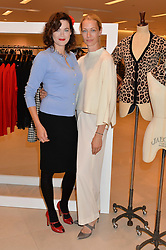 Left to right, JASMINE GUINNESS and SHEILA McKAIN WAID at the launch of the 'Jasmine for Jaeger' fashion collection by Jasmine Guinness for fashion label Jaeger held at Fenwick's, Bond Street, London on 9th September 2015.