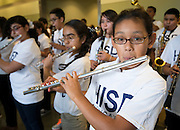 Houston ISD staff, students and visitors celebrate the 2013 Broad Prize for Urban Education award, September 30, 2013.