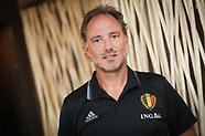 Belgian national soccer team Red Devils Press conference - 24 Aug 2017
