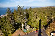 The Astoria Column in Astoria, Oregon, USA