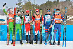 CLARION_Thomas, Guide:  BOLLET_Antoine competing in the ParaSkiDeFond, Para Nordic Skiing, 20km at  the PyeongChang2018 Winter Paralympic Games, South Korea.