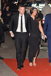 © Licensed to London News Pictures. 14/12/2016. JAMIE VARDY and wife REBEKAH VARDY attend The Sun newspaper Millies Military Awards 2016 at Guildhall <br /> London, UK. Photo credit: Ray Tang/LNP