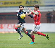 Dundee&rsquo;s Faissal El Bakhtaoui and St Mirren&rsquo;s former Dee Gary MacKenzie - Dundee v St Mirren in the William Hill Scottish Cup at Dens Park, Dundee. Photo: David Young<br /> <br />  - &copy; David Young - www.davidyoungphoto.co.uk - email: davidyoungphoto@gmail.com