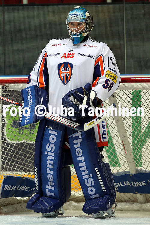 20.10.2012, HK-Areena (Turkuhalli), Turku..J??kiekon SM-liiga 2012-13. TPS - Tappara..Pekka Tuokkola - Tappara