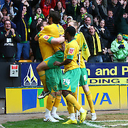 Norwich - Saturday March 27th, 2010:  Chris Martin of Norwich scores the winning goal and celebrates during the Coca Cola League One match at Carrow Road, Norwich. (Pic by Paul Chesterton/Focus Images)
