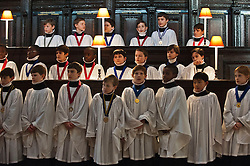 St. Paul's Cathedral Choristers prepare for their busiest weeks of the year as they  rehearse for the Christmas services, St. Paul's Cathedral, London, United Kingdom. Monday, 9th December 2013. Picture by i-Images
