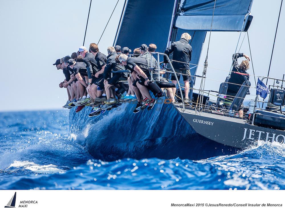 MenorcaMaxi 2015. Wally and Maxi 72 regatta in Menorca, Spain, May 2015. All images &copy;Jesus Renedo / Consell Insular de Menorca.<br /> Maxi 72 Jethou