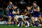 Shaun Treeby of Wellington makes a break during the Mitre 10 Competition match between Otago and Wellington at Forsyth Barr Stadium on August 25, 2016 in Dunedin, New Zealand. Credit: Joe Allison / www.Photosport.nz