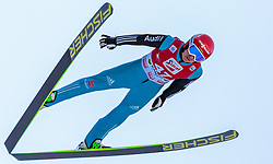 20.12.2015, Nordische Arena, Ramsau, AUT, FIS Weltcup Nordische Kombination, Skisprung, im Bild Manuel Faisst (GER) // Manuel Faisst of Germany during Skijumping Qualification of FIS Nordic Combined World Cup, at the Nordic Arena in Ramsau, Austria on 2015/12/20. EXPA Pictures © 2015, PhotoCredit: EXPA/ JFK