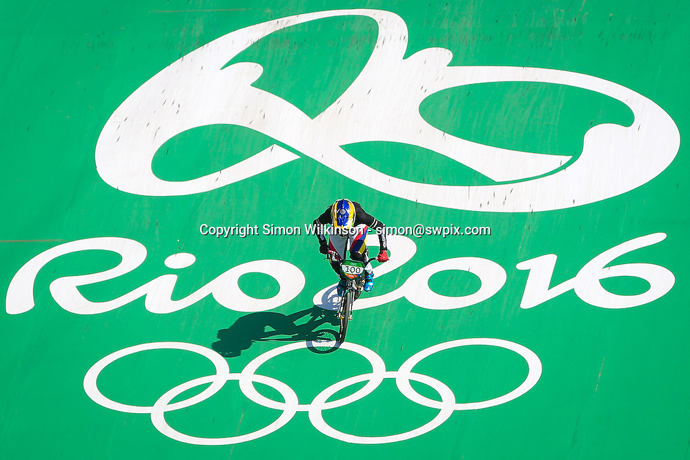 Picture by Alex Whitehead/SWpix.com - 17/08/2016 - 2016 Rio Olympic Games - BMX - Olympic BMX Centre, Rio de Janeiro, Brazil - Colombia's Mariana Pajon qualifies fastest in the Women's Seeding Run.