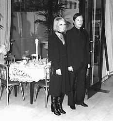 BARBARA HULANICKI and her husband STEPHEN FITZSIMON at their shop at 124 Kensington High Street, London on 25th October 1970