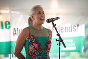 Assistant Vice President of Ohio University, Jennifer Neubauer,  speaks during the Black Alumni Reunion during its welcome reception at Tailgreat Park on Thursday, September 15, 2016.