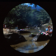 Image made with film pinhole camera..