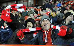 Spectators celebrate at the Johnstone's Paint Trophy south area final second leg match between Bristol City and Gillingham at Ashton Gate on 29 January 2015 in Bristol, England - Photo mandatory by-line: Paul Knight/JMP - Mobile: 07966 386802 - 29/01/2015 - SPORT - Football - Bristol - Ashton Gate Stadium - Bristol City v Gillingham - Johnstone's Paint Trophy