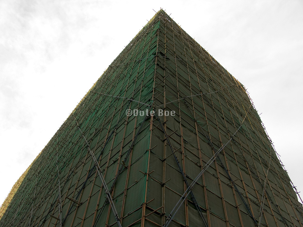 a building under construction fully covered up China
