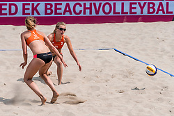 19-07-2018 NED: CEV DELA Beach Volleyball European Championship day 5<br /> Marloes Wesselink #2 NED, Sophie van Gestel NED #1