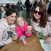 14.06.2018.             <br /> Limerick Food Group hosted the Urban Food Fest street food evening in the Milk Market on Thursday June 14th with a 'Summer Fiesta' theme in one big Limerick city summer party.<br /> <br /> Pictured at the event were, Lisa, Ollie and Satires Ryan with Pamela Harty. Picture: Alan Place