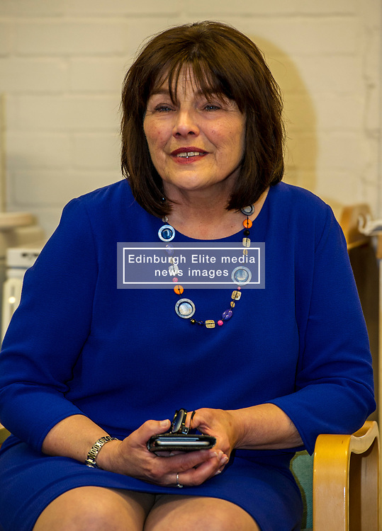 Pictured: Jeane Freeman<br /> Today social security minister Jeane Freeman MSP visited voluntary organisation  Stepping Stones (North Edinburgh), a group which helps young parent families and pregnant women, and met parents and children. The visit marked the introduction of the first Social Security (Scotland) Bill.<br /> Ger Harley | EEm 21 June  2017