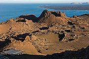 Model at Lookout on Bartolome<br /> KT 015 Emil Klein<br /> Bartolome<br /> Galapagos<br /> Ecuador, South America