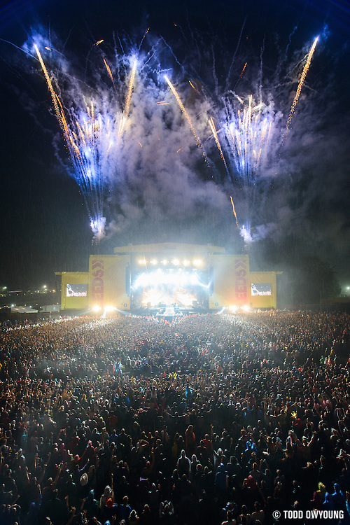 Biffy Clyro performing at Leeds Festival in the UK on September 13, 2013.