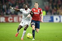 Fallou Diagne / Nolan Roux - 15.03.2015 - Lille / Rennes - 29e journee Ligue 1<br /> Photo : Andre Ferreira / Icon Sport
