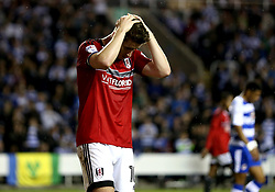 Tom Cairney of Fulham looks dejected during the defeat to Reading in the Championship Playoff Semi-Final - Mandatory by-line: Robbie Stephenson/JMP - 16/05/2017 - FOOTBALL - Madejski Stadium - Reading, England - Reading v Fulham - Sky Bet Championship Play-off Semi-Final 2nd Leg