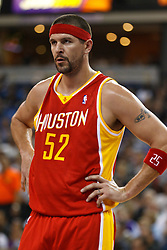 March 7, 2011; Sacramento, CA, USA;  Houston Rockets center Brad Miller (52) before a free throw against the Sacramento Kings during the second quarter at the Power Balance Pavilion. Houston defeated Sacramento 123-101.