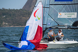 SCHRAMA Rolf, NAP Sandra, NED, 2-Person Keelboat, SKUD18, Sailing, Voile à Rio 2016 Paralympic Games, Brazil