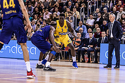 November 1, 2018 - Barcelona, Barcelona, Spain - Johnny O'Bryant, #3 of Maccabi Fox Tel Aviv in actions during EuroLeague match between FC Barcelona Lassa and Maccabi Fox Tel Aviv  on November 01, 2018 at Palau Blaugrana, in Barcelona, Spain. (Credit Image: © AFP7 via ZUMA Wire)