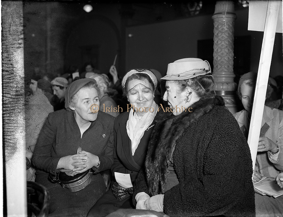 29/03/1955 <br /> 03/29/1955<br /> 29 March 1955<br /> Irish Countrywomen's Association (ICA), Annual General Meeting, at the Mansion House, Dublin.
