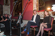 READERS; ARTHUR HOUSE; LUCY BERESFORD, The Literary Review Bad Sex fiction award 2012. The In and Out Club, 4 St. james's Sq. London. 4 December 2012