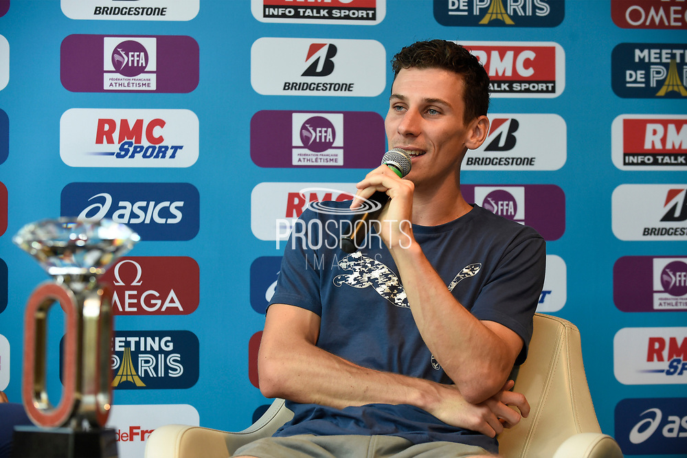 Pierre-Ambroise Bosse (FRA) during press conference of Meeting de Paris 2018, Diamond League, at Hotel Marriott, in Paris, France, on June 29, 2018 - Photo Jean-Marie Hervio / KMSP / ProSportsImages / DPPI