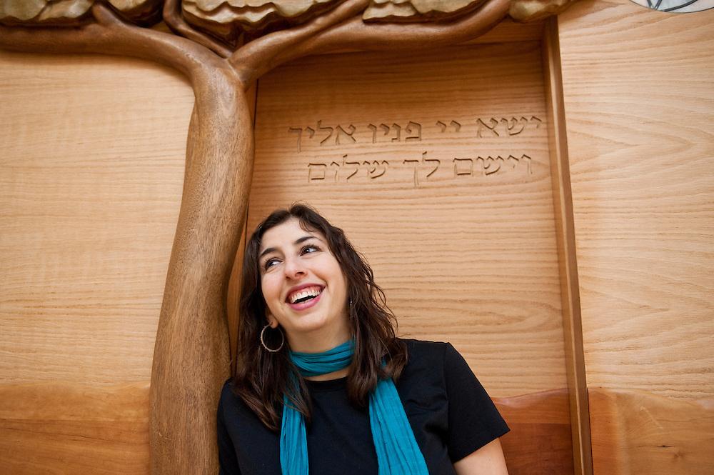 1/29/10 - Medford/Somerville, Mass. - Rabbi Darya Ruttenberg at the Tufts University Granoff Family Hillel Center on Friday, January 29, 2010. ..Alonso Nichols/Tufts University Photo