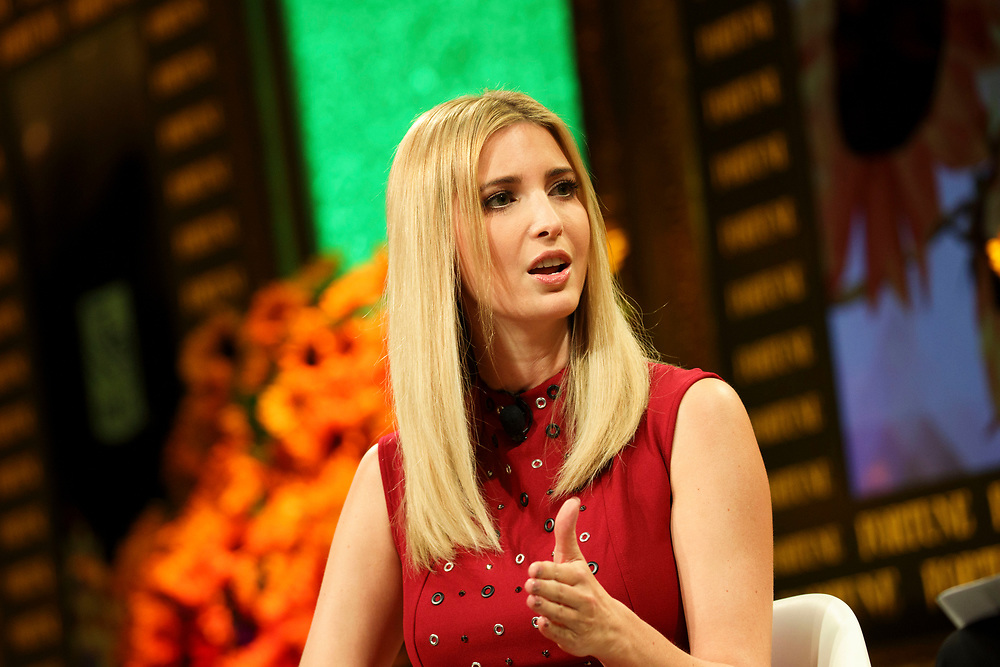 Ivanka Trump, daughter of Republican Presidential Nominee Donald Trump, speaks during the Fortune Most Powerful Women Summit in Dana Point, California, U.S., on Wednesday, October 19, 2016. The summit brings preeminent women in business and leadership together for discussions and high-level networking. © 2016 Patrick T. Fallon