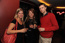 A party to promote the exclusive Puntacana Resort & Club - the Caribbean's Premier Golf & Beach Resort Destination, was held at The Groucho Club, 45 Dean Street London on 12th May 2010.<br /> <br /> Picture shows:-Left to right, EMILY WRIGHT, PIPPA JACKS and ED QUAYLE