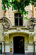 Facade of a Art Nouveau building, Riga, Latvia