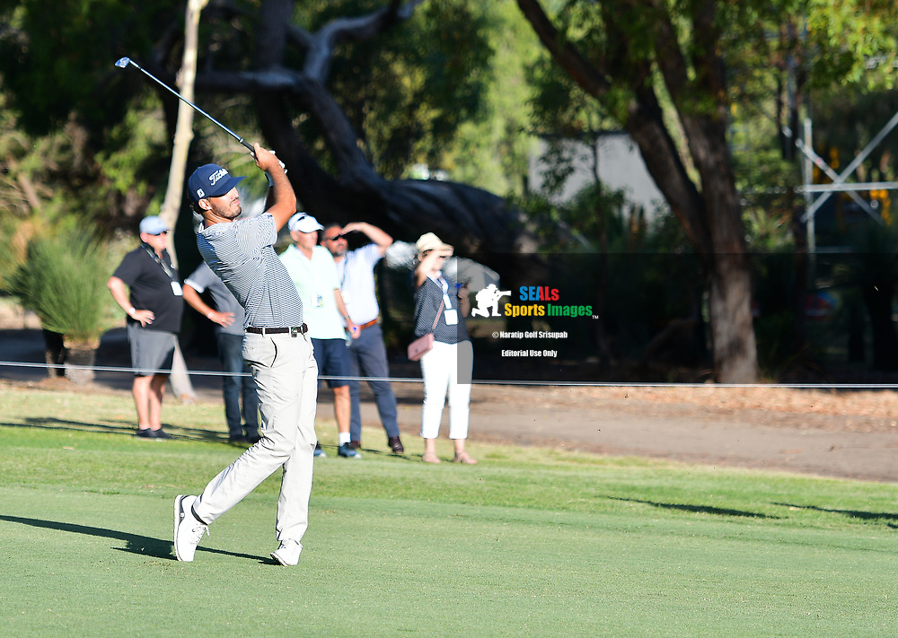 PERTH, AUSTRALIA - FEBRUARY 15: Matt Jager (WA) on the 18th fairway during the 2nd round of the ISPS Handa World Super 6, Lake Karrinyup Country Club, Perth, Western Australia, on February 15, 2019. <br /> .<br /> .<br /> .<br /> (Photo by: Naratip Golf Srisupab/SEALs Sports Images)<br /> .<br /> Any image use must include a mandatory credit line adjacent to the content which should read: Naratip Golf Srisupab/SEALs Sports Images