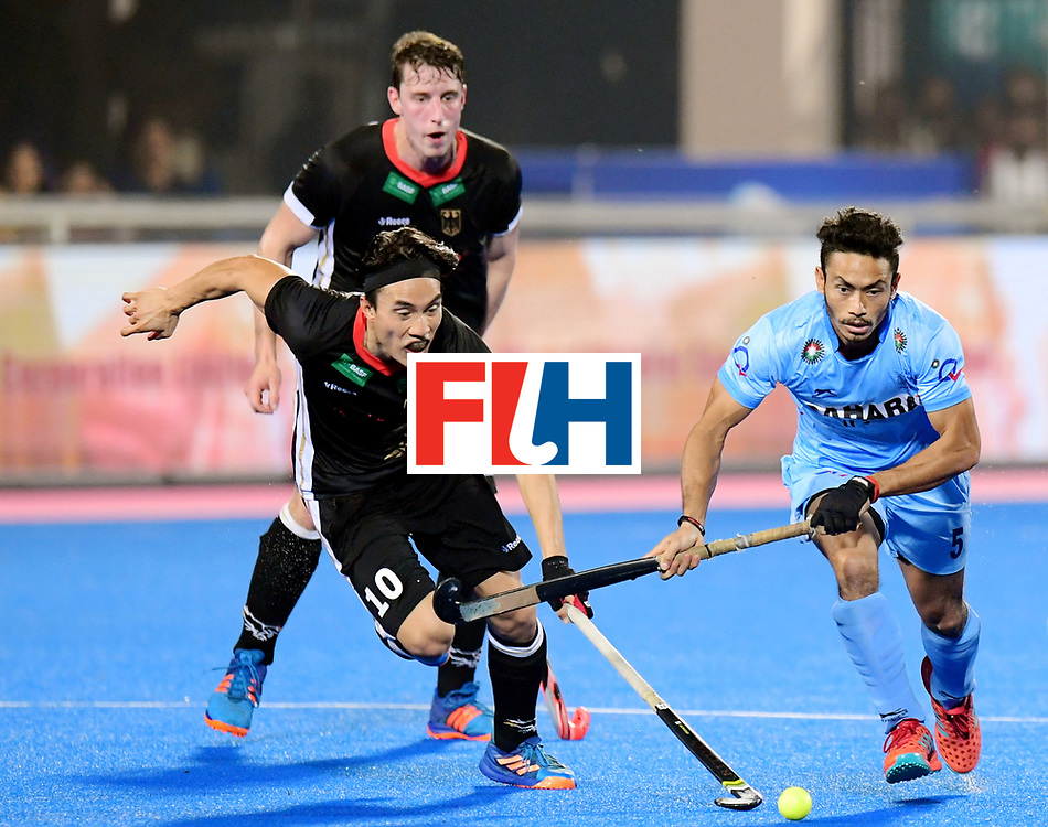 Odisha Men's Hockey World League Final Bhubaneswar 2017<br /> Match id:21<br /> India v Germany<br /> Foto: Kothajit Khadangbam (Ind) and Dan Nguyen (Ger) <br /> COPYRIGHT WORLDSPORTPICS FRANK UIJLENBROEK