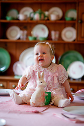 Winston Geerts at 1 year, Gemma Marie at 7 months, Alexander Wade 6 months Easter Celebration, Sunday, April 01, 2018  at Cedar Shake Shack, Geerts Grotto and the Komis Kastle in Louisville and Crestwood.