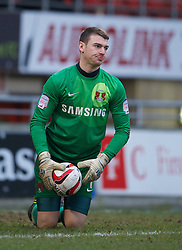 LONDON, ENGLAND - Saturday, February 9, 2013: Leyton Orient's goalkeeper Jamie Jones in action against Tranmere Rovers during the Football League One match at Brisbane Road. (Pic by David Rawcliffe/Propaganda)
