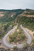 Rowena Crest viewpoint overlooking the Historic Columbia River Highway.