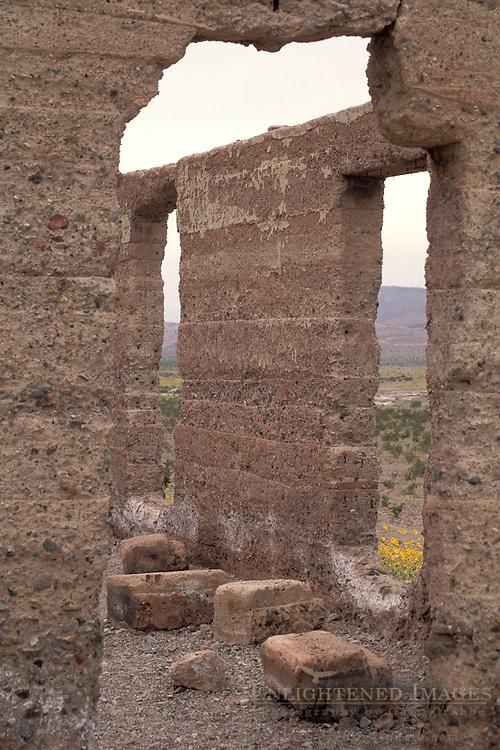 Historic ruins of old building at Ashford Mill, Death Valley National Park, California