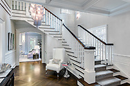 Westchester home, entry. Designed by 914 Interiors.