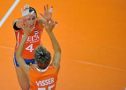 30-10-2011 VOLLEYBAL: NEDERLAND - BELGIE: ZWOLLE <br /> Nederland wint de tweede oefenwedstrijd met 3-2 van Belgie / Chaine Staelens<br /> ©2011-WWW.FOTOHOOGENDOORN.NL