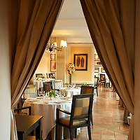 Dining room at the Relais & Chateaux La Cote Saint-Jacques in Joigny.