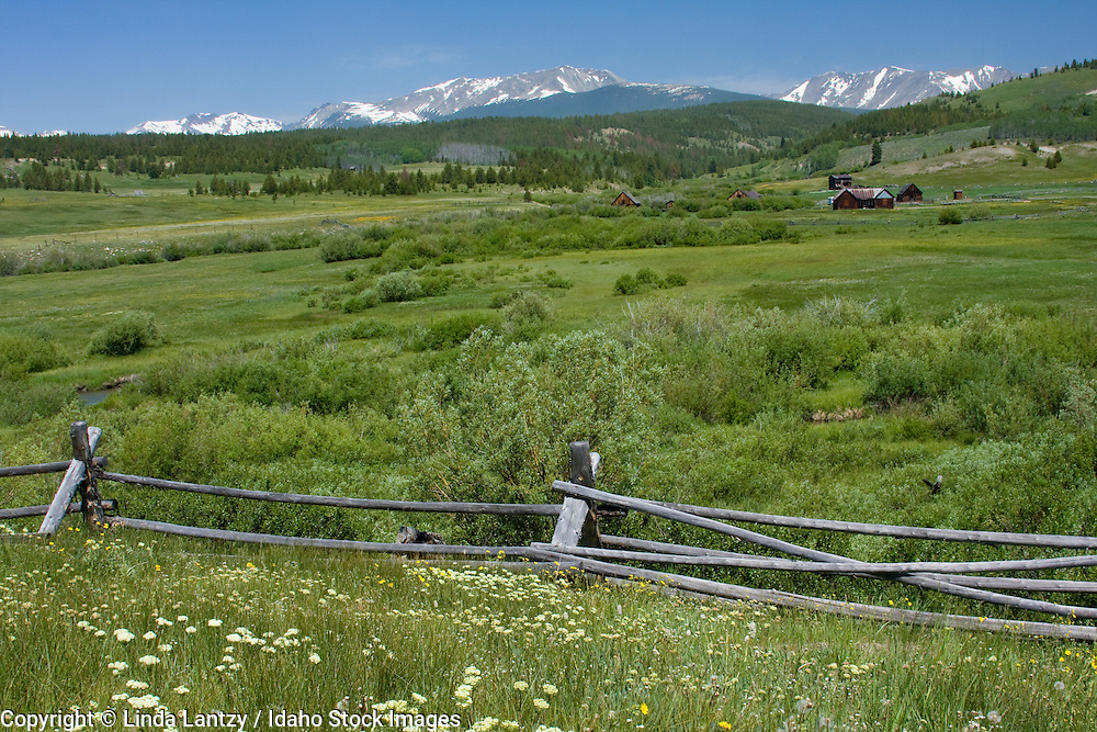 Montana, Anaconda. The historic Mule Ranch and Anaconda Range on  Route 569.