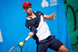 Enzo Couacaud (FRA) play against Tomas Lipovsek Puches (ARG) at ATP Challenger Zavarovalnica Sava Slovenia Open 2018, on August 5, 2018 in Sports centre, Portoroz/Portorose, Slovenia. Photo by Urban Urbanc / Sportida