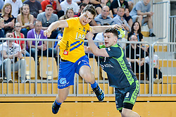 Groselj Matic of RK Celje Pivovarna Lasko during handball match between RK Krka and RK Celje Pivovarna Lasko in the Final of Slovenian Men Handball Cup 2018, on April 22, 2018 in Sportna dvorana Ljutomer , Ljutomer, Slovenia. Photo by Mario Horvat / Sportida