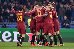 December 5, 2017 - Rome, Italy - Diego Perotti of Roma celebrates scoring first goal during the UEFA Champions League match between Roma and Qarabag at Stadio Olimpico, Rome, Italy on 5 December 2017  (Credit Image: © Giuseppe Maffia/NurPhoto via ZUMA Press)
