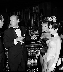 MR ROBIN DOUGLAS-HOME at the Playboy Club in 1966.<br /> EKT 12